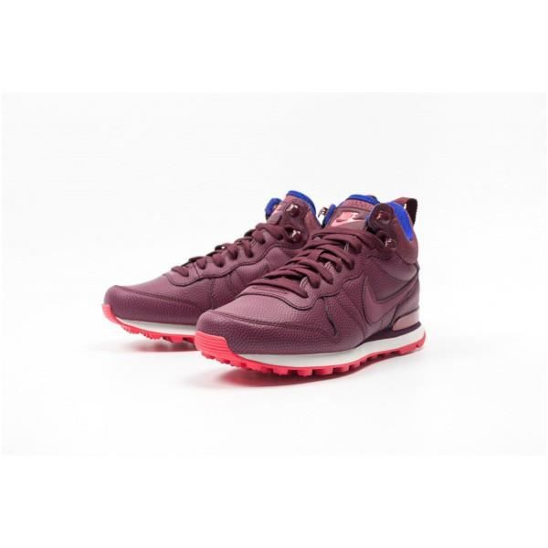 best service 187ec 9f278 BASKET Nike WMNS Internationalist Mid Leather Violet