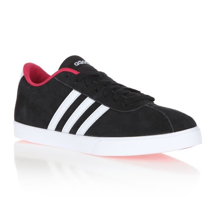 ADIDAS PERFORMANCE Baskets Courtset Lea - Femme - Noir et rose
