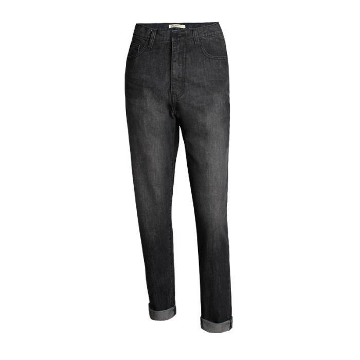 Jean femme taille haute coupe droite grande taille noir mode SIMPLE FLAVOR Bleu - Achat / Vente ...