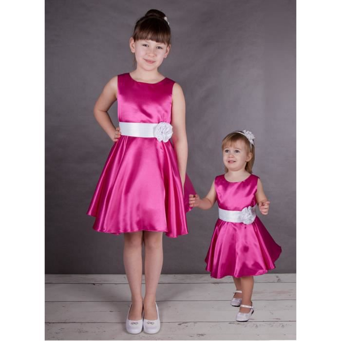 Robe De Ceremonie Fille Ania Rose Fushia 2 Ans Rose Fushia
