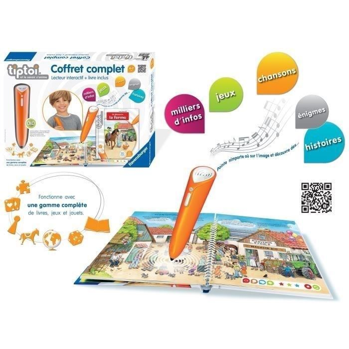 Tiptoi Coffret Complet Livre Interactif Lecteur