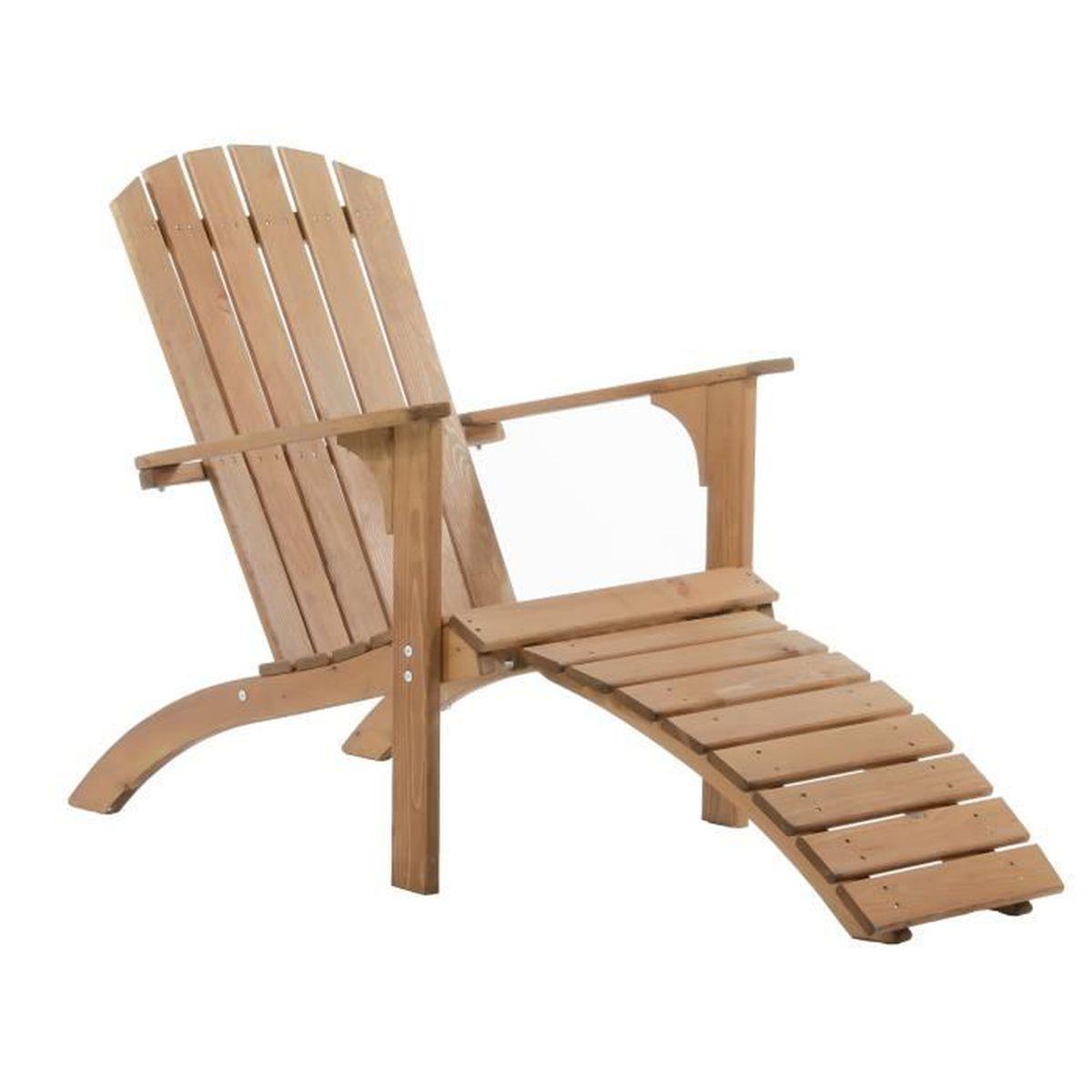 Coussin Pour Fauteuil Adirondack fauteuil adirondack falun avec son repose-pieds en pin