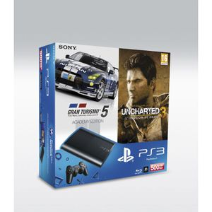 CONSOLE PS3 PS3 SLIM 500GO+ GT5 ACADEMY GOTY+ UNCHARTED 3 GOTY