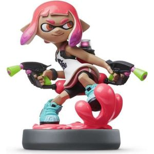 FIGURINE DE JEU Amiibo Splatoon - Fille Inkling Rose Néon Collecti