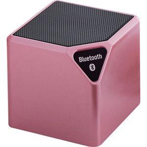 ENCEINTE NOMADE Mini enceinte lumineuse Bluetooth Bigben rose méta