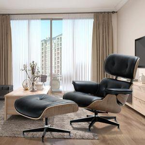 FAUTEUIL Fauteuil Noyer Lounge et Ottoman Lounge Chair Eame