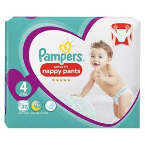 COUCHE Pampers Couches Active Fit Pants Taille 4 Géant (9