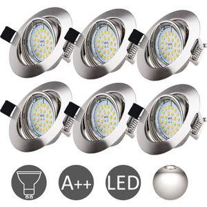 SPOTS - LIGNE DE SPOTS  WOWATT Lot 6 Spots LED Encastrables GU10 6W - Lum