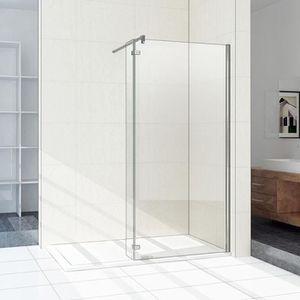 PORTE DE DOUCHE Paroi de douche fixe largeur 90 cm avec retour piv