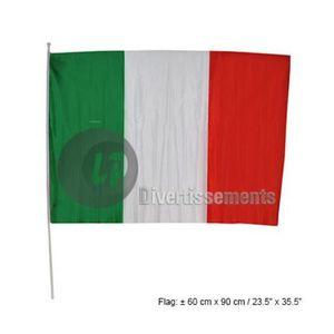30 x 45 cm Drapeau Italie pour voiture avec b/âton env