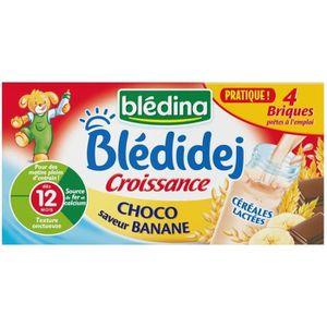 LAIT BÉBÉ BLEDINA Blédidej Croissance lait et céréales Choco
