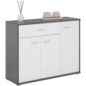 BUFFET - BAHUT  Buffet CORALINE, commode meuble de rangement avec