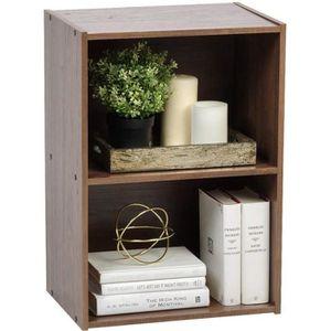 MEUBLE ÉTAGÈRE Iris Ohyama - Etagère en bois MDF 2 casiers Cube B
