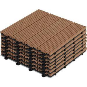 DALLAGE Dalles de terrasse clipsables en bois composite -