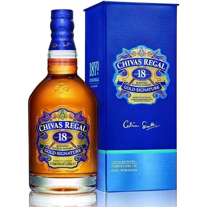 WHISKY BOURBON SCOTCH Chivas Regal 18 ans 40° 70cl