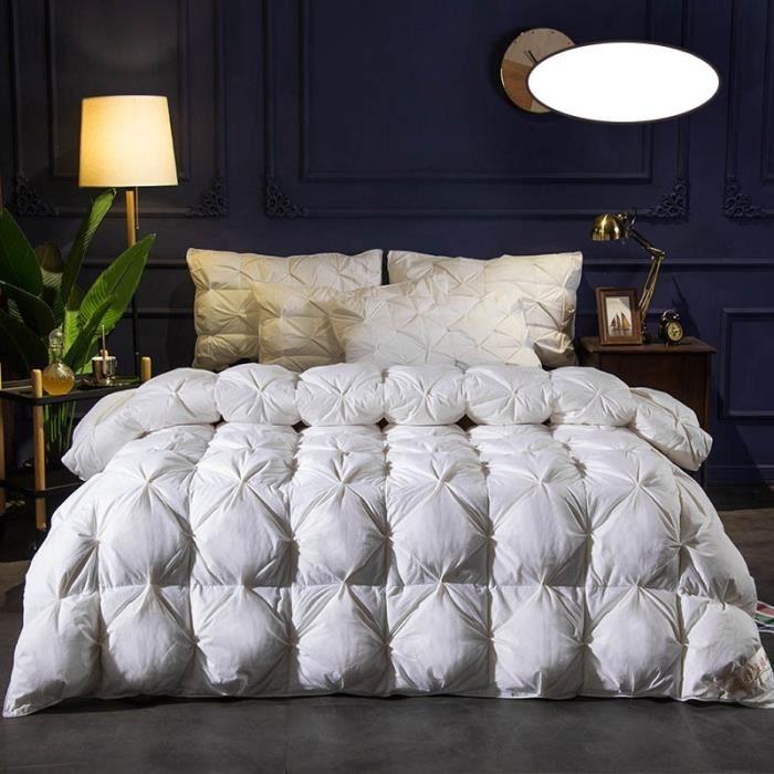 blanc 3kg 220x240cm couette en duvet d'oie et canard 100% de haute qualité couettes d'hôtel cinq étoiles couettes chaudes 100% coton