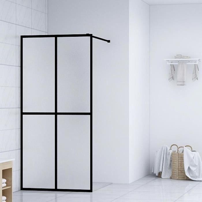 Magnifique-Écran de douche-pare-douche paroi de baignoire écran baignoire Verre trempé 100x195 cm