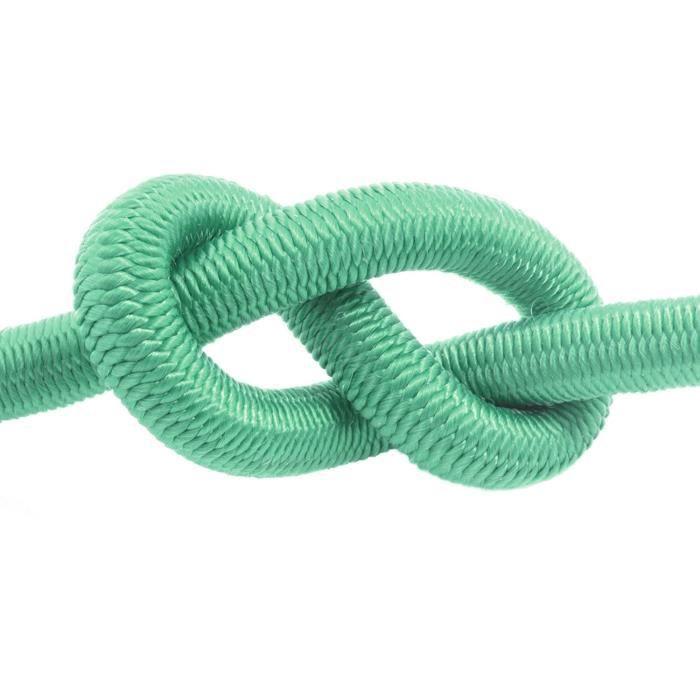 20m corde élastique câble 8mm vert - plusieurs tailles et couleurs