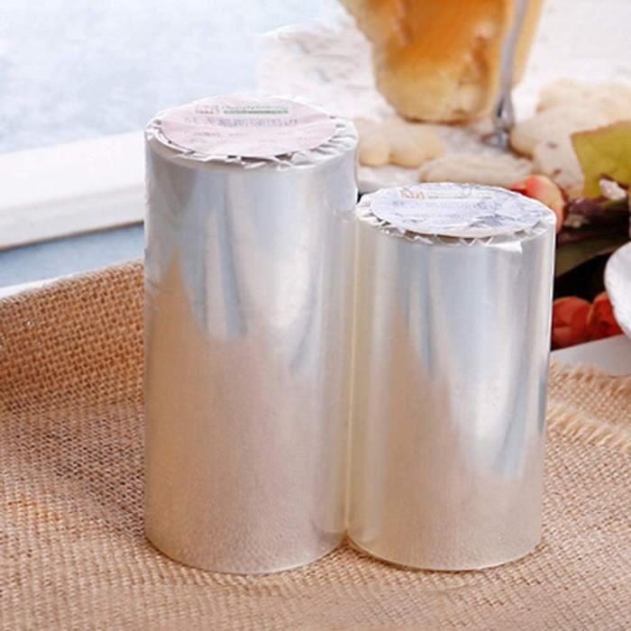 2 Packs Colliers à Gâteau, Ruban de Gâteau Transparent Feuille pour Entourer Les Gâteaux Mousse Patisserie(10cm*10m, 8cm*10m)