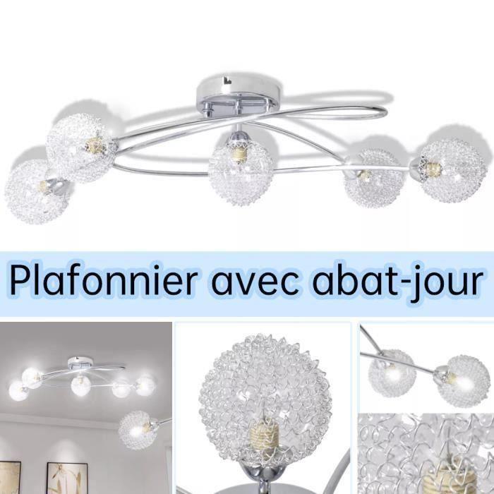 Lustre- Lampe de Plafond 5 ampoules G9 Lustre Salon Lustre chambre Lustre cuisine -BOH