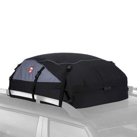 Sac de Toit Voiture pour Voyage Coffre De Toit Voiture Valise de Toit SUV Noir Souple 420L 14.5 Pieds Cubes 110*85*45CM