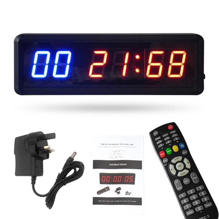Chronomètre de minuterie de gymnastique avec compte à rebours - horloge à distance pour la salle de gym à domicile2