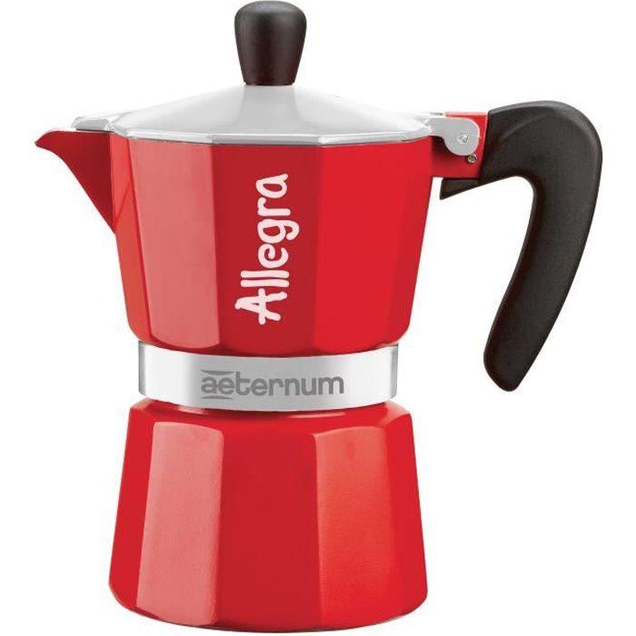 BIALETTI Cafetière ALLEGRA en métal rouge capacité