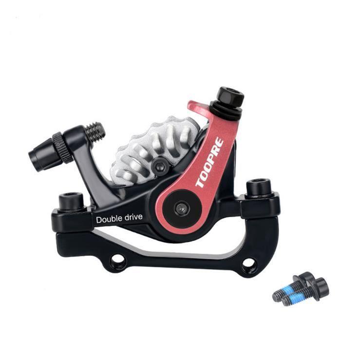 DAMILY® Étrier de Frein de vélo mécanique Frein à disque arrière Alliage d'aluminium - Noir