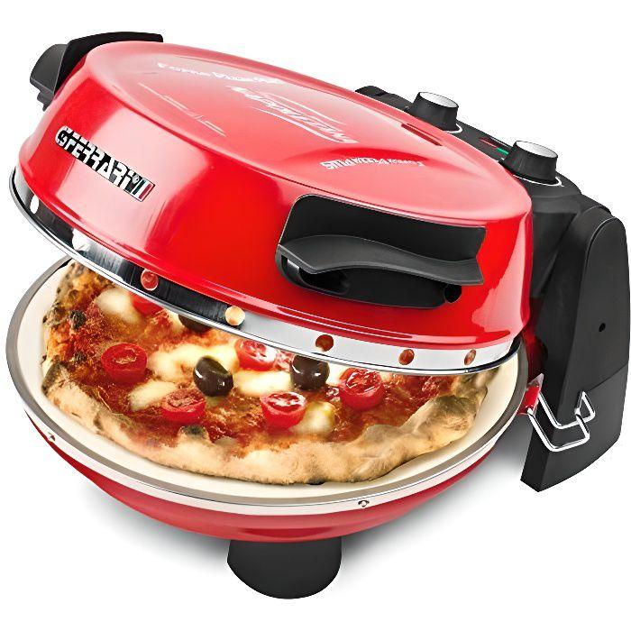 G3Ferrari G10032 Four compact électrique avec deux pierres refractables pour pizza Rouge G10032