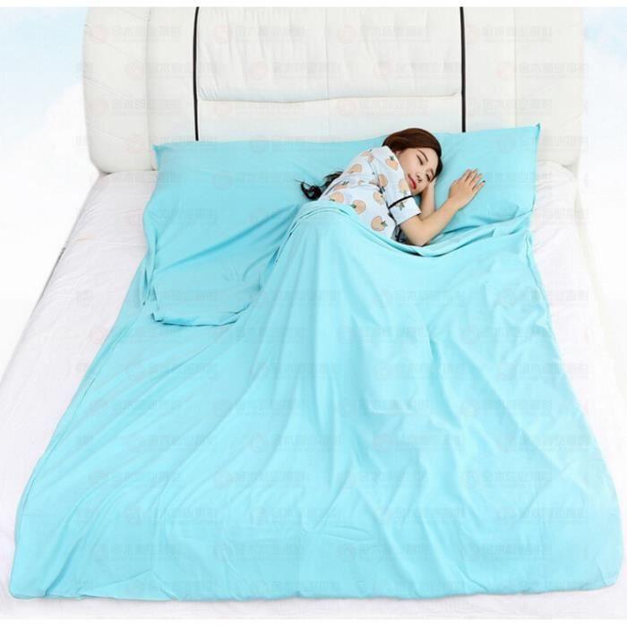MKISHINE® Drap de Sac De Couchage Pour le Camping et le Voyage, Ultra Léger Sac de couchage pour Voyager, Camper