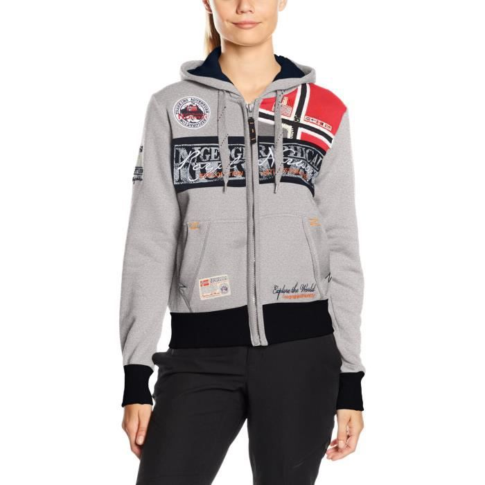 GEOGRAPHICAL NORWAY Flyer femmes Lady sport à capuche UK1G5 Taille-38