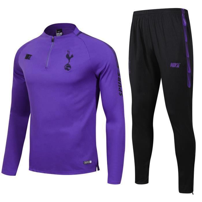 Tottenham Hotspur - 19-20 Maillot de Football Enfants Adultes Ensemble Survêtements D'entraînement de Football(Haut + Pantalon)