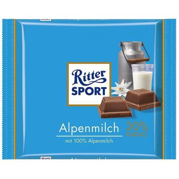 Ritter Sport lait Alpine 5 x 100g