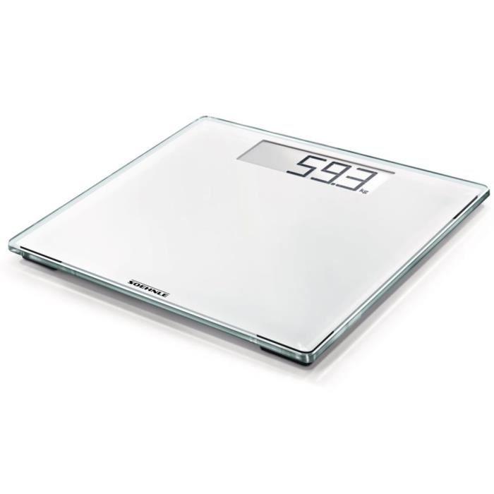 Soehnle Pèse-personne Style Sense Comfort 100 180 kg Blanc 63853