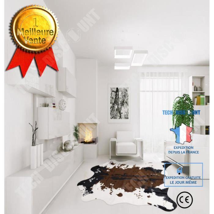 TD® Tapis de sol Imitation peau de Vache Tapis pour décoration maison