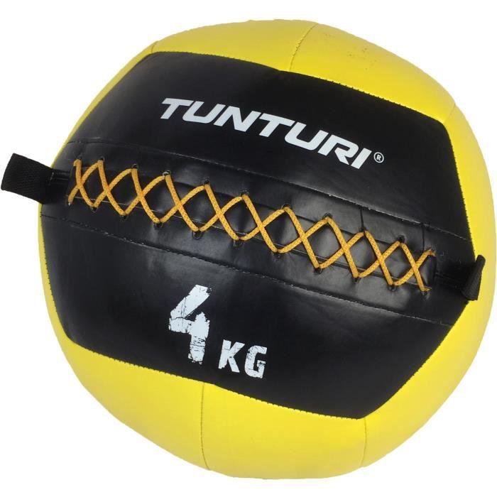 TUNTURI Balle murale wall ball crossfit 4kg jaune