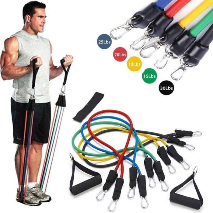 Yoga câble de traction Des Exercices de Fitness bandes de résistance 11 pcs/ensemble