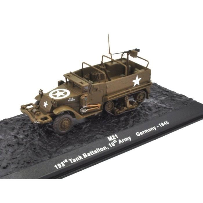 v hicule miniature militaire de collection 1 72 altaya m21 half track halftrack 193rd tank. Black Bedroom Furniture Sets. Home Design Ideas