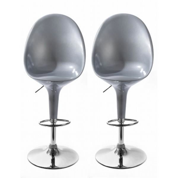 Chaises de bar egg gris lot de 2 achat vente - Chaise de bar avec accoudoir ...
