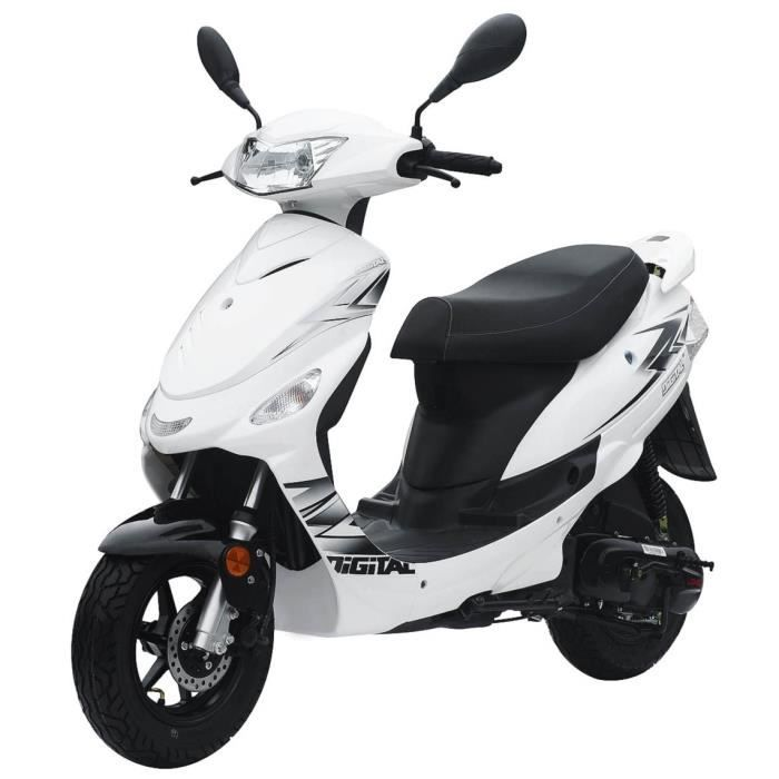 longjia scooter 50cc digita 4 temps blanc achat vente. Black Bedroom Furniture Sets. Home Design Ideas
