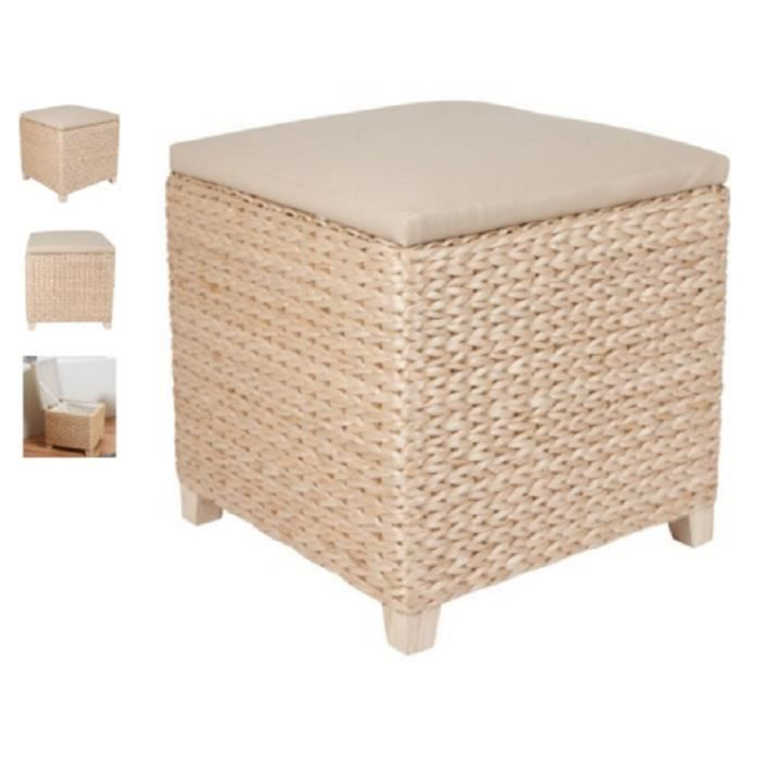 pouf coffre de rangement en osier achat vente pouf poire cdiscount. Black Bedroom Furniture Sets. Home Design Ideas