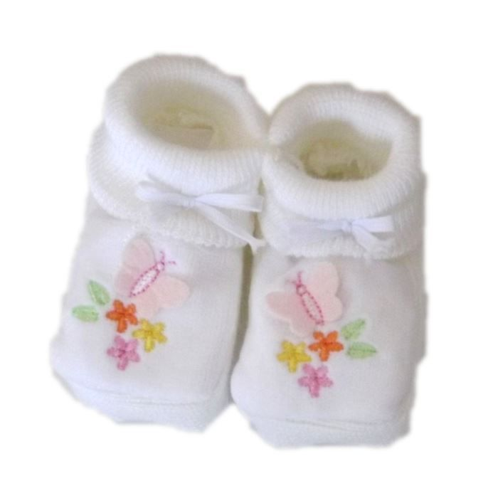 chaussons b b de naissance coloris blanc achat vente chausson pantoufle 2009992271533. Black Bedroom Furniture Sets. Home Design Ideas