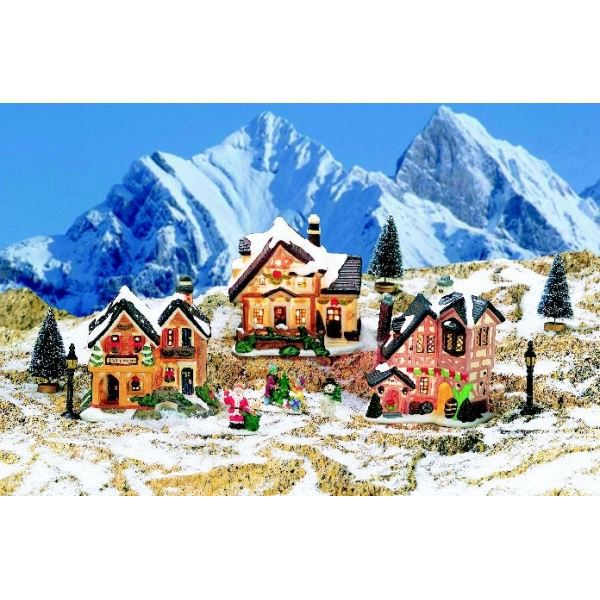 Decoration village de noel pas cher decoration village noel sur enperdreson - Decoration noel pas cher ...