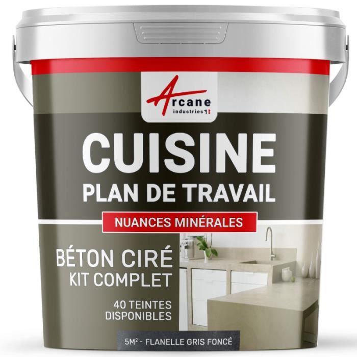 Beton Cire Pour Cuisine Kit 5m2 2 Couches Achat Vente Peinture