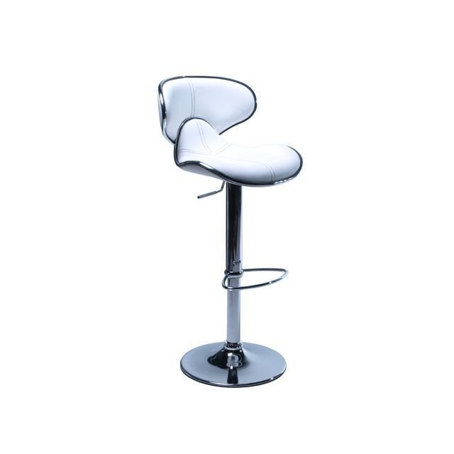 lot de 2 tabourets de bar moderne blanc torra achat vente tabouret de bar cdiscount. Black Bedroom Furniture Sets. Home Design Ideas