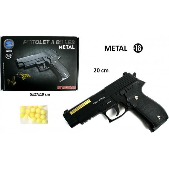 Pistolet à billes Elite de 26 cm