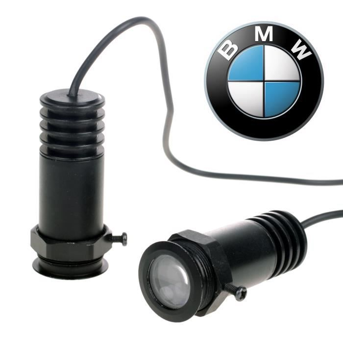 2x 12v ampoule led lampe de porte voiture ombre de fant me projecteur pour bmw achat vente. Black Bedroom Furniture Sets. Home Design Ideas