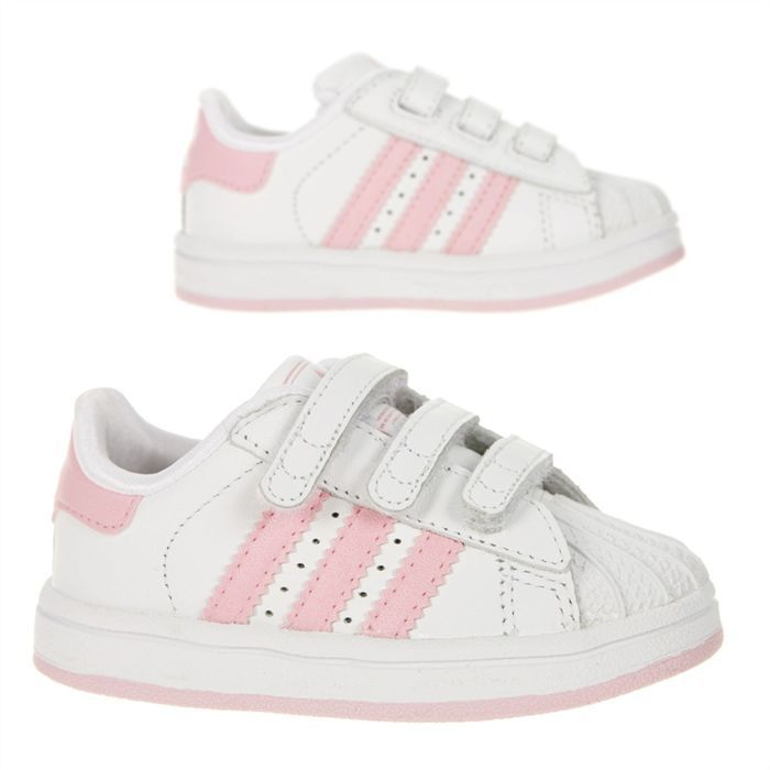 ADIDAS Baskets Superstar Bébé Blanc et rose