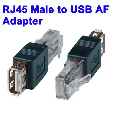 adaptateur rj45 male vers usb af achat vente c ble connectique adaptateur rj45 male vers u. Black Bedroom Furniture Sets. Home Design Ideas