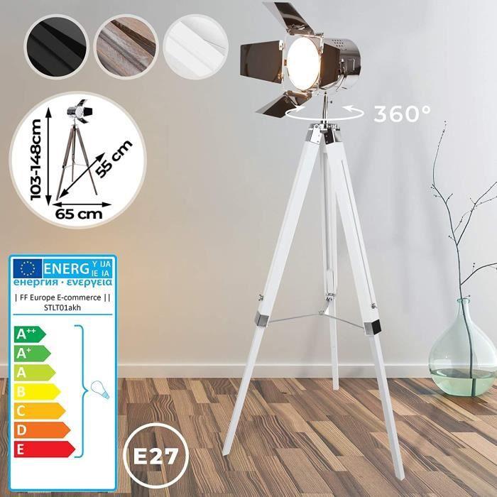 RGB DEL Trépied Debout Lampe Variateur Studio Spot Lampe Réglable Télécommande